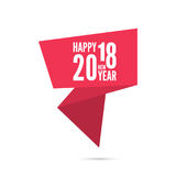 2018 Happy new year background. Ribbon banner with 2018 Happy new year. for greeting card, flyer, invitation, poster, brochure, banner, calendar, Christmas Royalty Free Stock Images