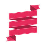 Ribbon banner pink design icon Stock Photography