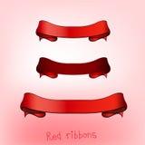 Ribbon banner red b Stock Image