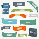 Ribbon and banner set stock illustration