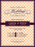 Ribbon banner Wedding invitation frame template. Vector Stock Photo