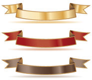 Ribbon banners Stock Image