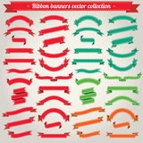 Ribbon Banners Vector Collection. Ribbon Banners Big Vector Collection Royalty Free Illustration