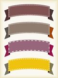 Ribbon banners. Colorful ribbon banners - empty banner template with copyspace. Ribbons set Royalty Free Stock Image