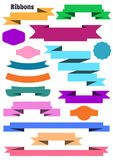 Ribbon banners Stock Image