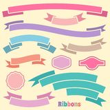 Ribbon banners Stock Photos