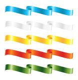 Ribbon Banners Set Stock Images