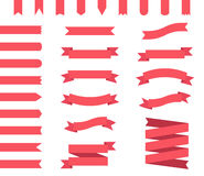 Ribbon banners set Royalty Free Stock Images