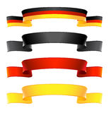 Ribbon Banners Set in national colors of Germany. Vector-Illustration stock illustration