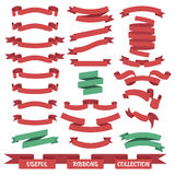 Ribbon banners set Royalty Free Stock Photo