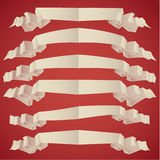 Ribbon Banners set. 06 Royalty Free Stock Images