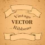 Ribbon Banners Stock Photography