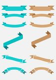 Ribbon Banners Vector Royalty Free Stock Photo
