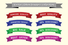 Ribbon banners vector collection templates for design work Stock Image