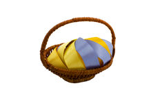 Ribbon in the basket royalty free stock image