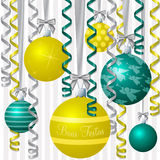 Ribbon and Bauble Christmas Card Stock Image