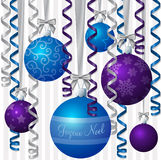 Ribbon and Bauble Christmas Card Stock Images