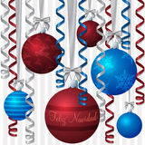 Ribbon and Bauble Christmas Card Stock Photography