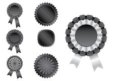 Ribbon black Stock Image