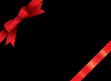 Ribbon black Stock Photo