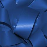 Ribbon of blue. Shining material Stock Image
