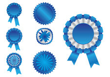 Ribbon blue Stock Photography