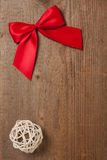 Ribbon on a board Stock Image