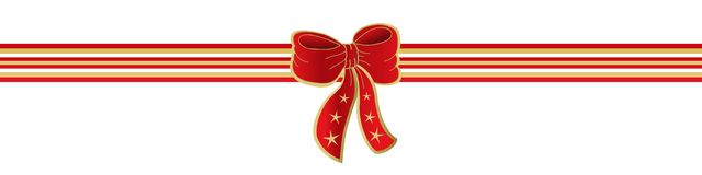 Ribbon and bow. Illustration of a red ribbon and bow Stock Photography