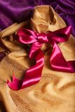 Ribbon, bow and fabric Royalty Free Stock Image