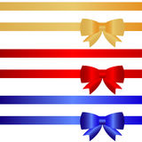 Ribbon with a bow. Flat design, illustration stock illustration