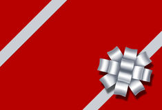 Ribbon bow gift present diagonal red box package a Stock Image