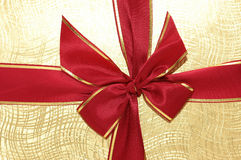 The ribbon and bow  of the giftbox. The ribbon and  bow  of the giftbox Stock Photo