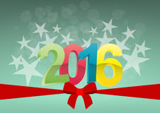2016 ribbon bow Royalty Free Stock Images