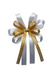 Ribbon bow isolated on white background. Royalty Free Stock Photo