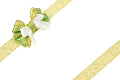 Ribbon and bow of organza Stock Images
