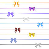 Ribbon bow set Stock Photo
