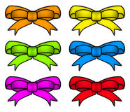 Ribbon bow set for christmas present symbol design. Vector illustration isolated on white background. Royalty Free Stock Photos