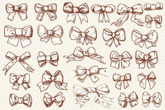 Ribbon bow set Royalty Free Stock Photos