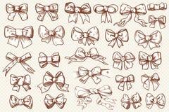 Ribbon bow set Royalty Free Stock Photos