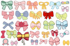 Ribbon bow set Royalty Free Stock Photo