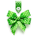 Ribbon bow and tag Stock Photo