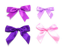 Ribbon with bow and tails Royalty Free Stock Photos