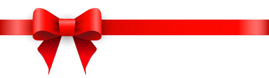 Ribbon with bow Royalty Free Stock Image