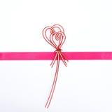Ribbon bow on white background Stock Photos