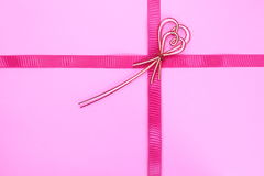 Ribbon bow on white background Royalty Free Stock Images