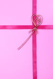 Ribbon bow on white background Royalty Free Stock Photo