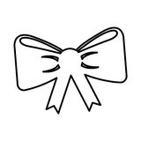 Ribbon bown isolated icon Stock Photography