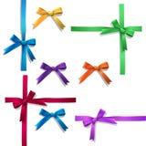 Ribbon bows. Vector set of ribbon bows Stock Images