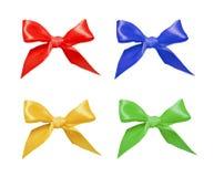 Ribbon bows. Isolated on white Stock Photo