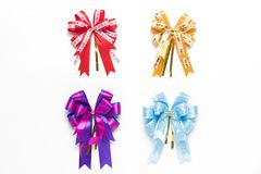 Ribbon bows isolated on white background Stock Photography